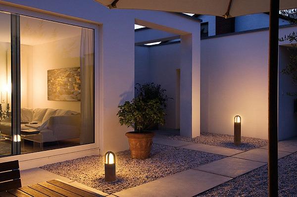 rusty cone pollerleuchten 40 und 70 cm herny klammer garten und landschaftsbau. Black Bedroom Furniture Sets. Home Design Ideas